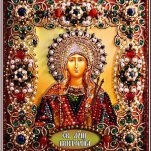 Образа в каменьях икона Святая Виктория арт. 77-И-65