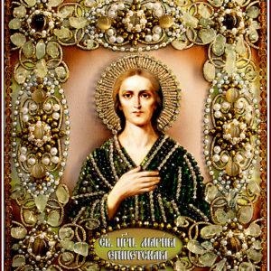 Образа в каменьях икона Святая Мария Египетская арт. 77-И-60