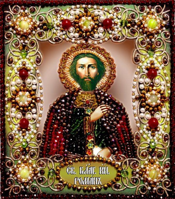 Образа в каменьях икона Святой Роман арт. 77-и-45