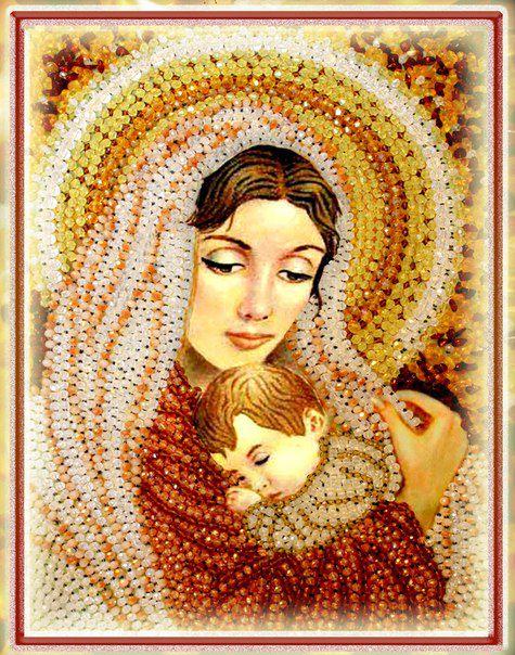Образа в каменьях Дева Мария арт. 5522