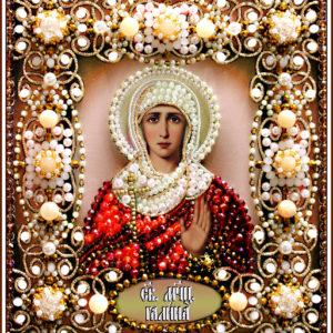 Образа в каменьях икона Святая Галина арт. 77-и-20