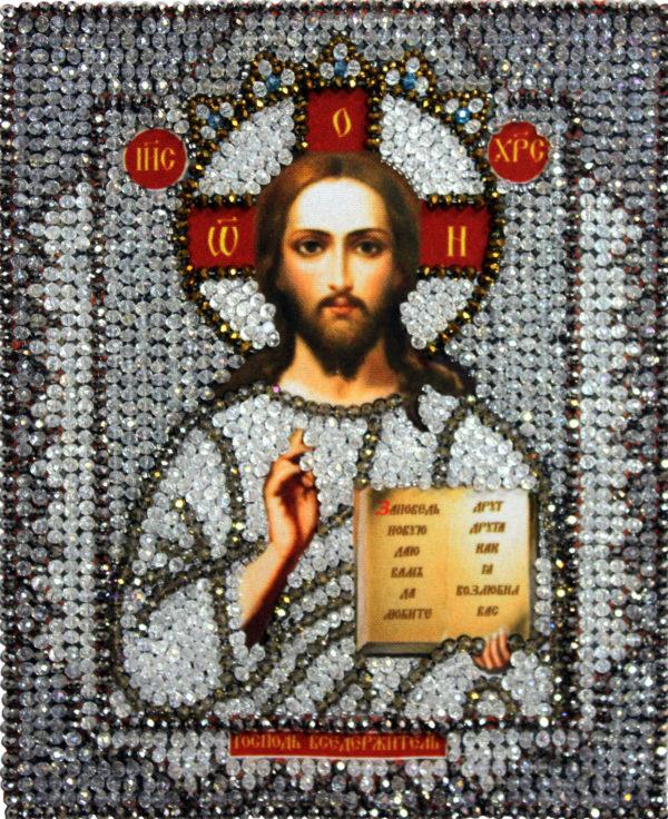 Образа в каменьях икона Господь Вседержитель арт. 7703