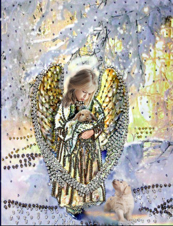 Образа в каменьях Лесной ангел арт. 5510