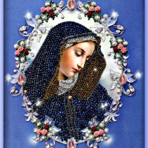 Образа в каменьях икона Мадонна Долороса арт. 7716
