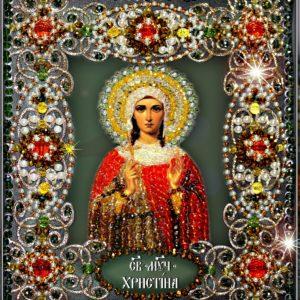 Образа в каменьях икона Святая Кристина арт. 77-и-05