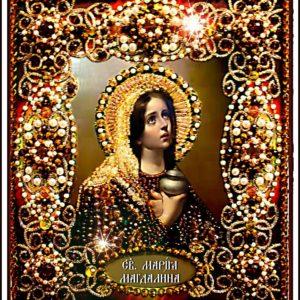 Образа в каменьях икона Святая Мария Магдалина арт. 77-и-09