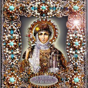 Образа в каменьях икона Святая Ольга арт. 77-и-02