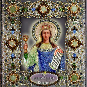 Образа в каменьях икона Святая Варвара арт. 77-и-08