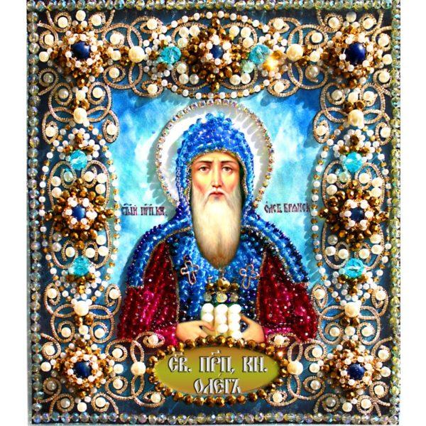 Образа в каменьях икона Святой Олег арт. 77-и-64