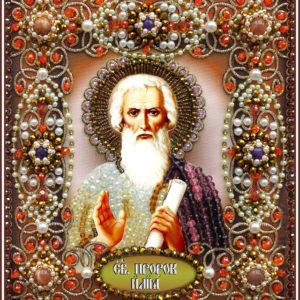 Образа в каменьях икона Святой Илья арт. 77-и-43