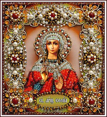Образа в каменьях икона Святая София арт. 77-и-53