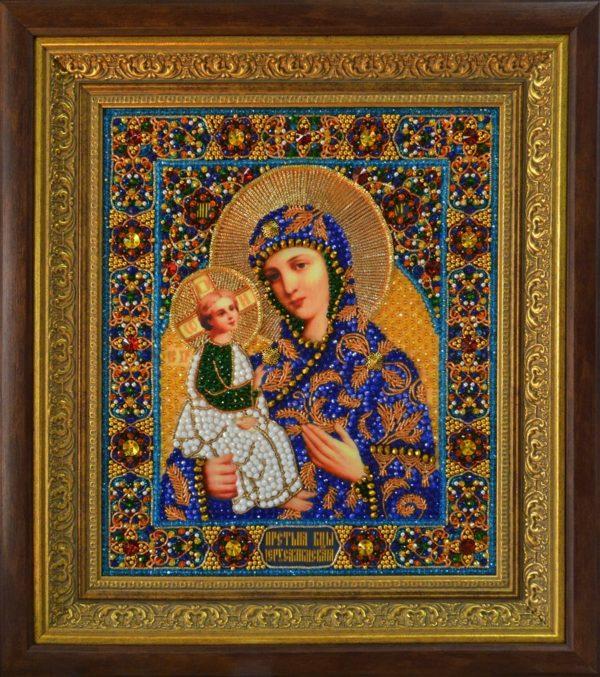 Хрустальные грани Образ Божьей Матери Иерусалимская арт. И10