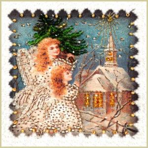 Образа в каменьях магнит Рождество-2 арт. М-08